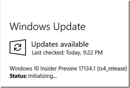 Windows 10 Insider Preview (RS4) Build 17134 for PC released